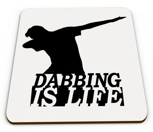 Dabbing Is Life Glossy Mug Coaster
